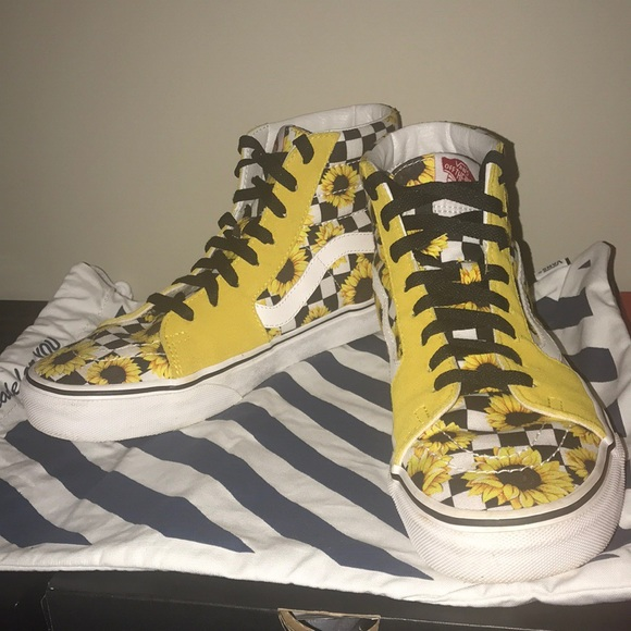 Vans Shoes | Sk8 Hi Sunflower Vans